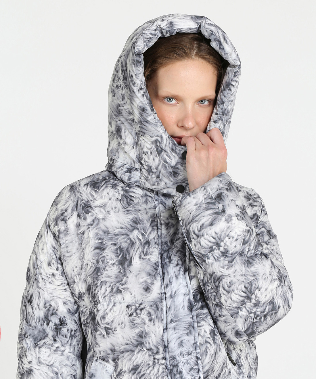 Women's Printed Aurora Puffy Down Coat - John Rich & Bros.