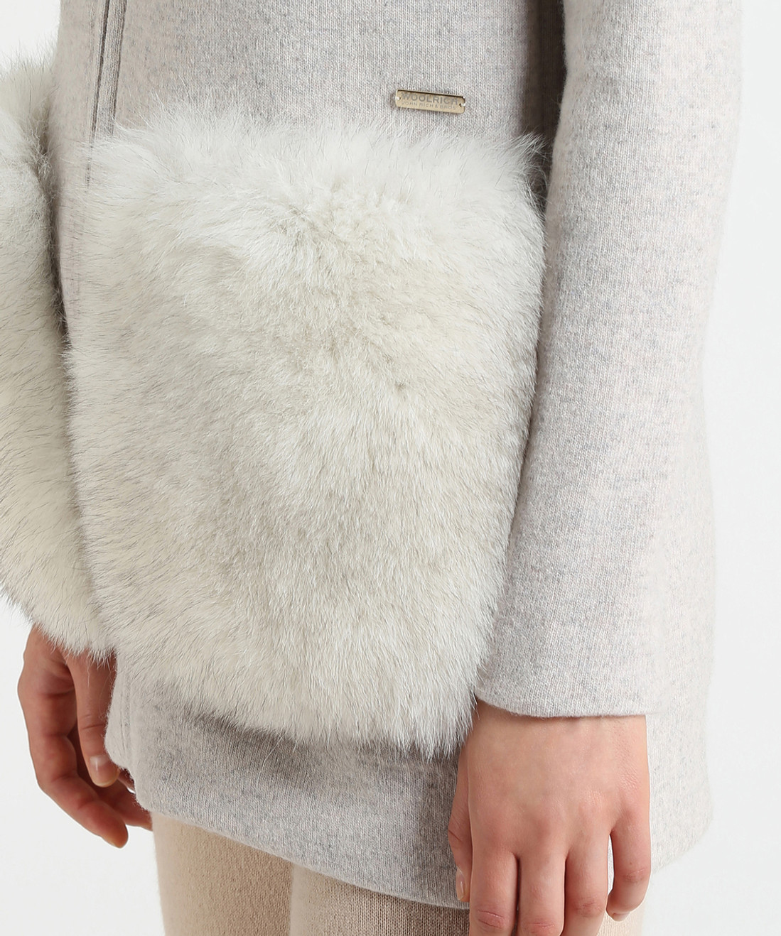 Women's Wool Cotton Fur Pocket Hoodie - John Rich & Bros.