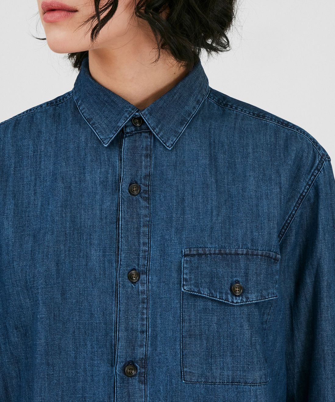 Women's Denim Chambray Shirt - 100% Cotton - John Rich & Bros.