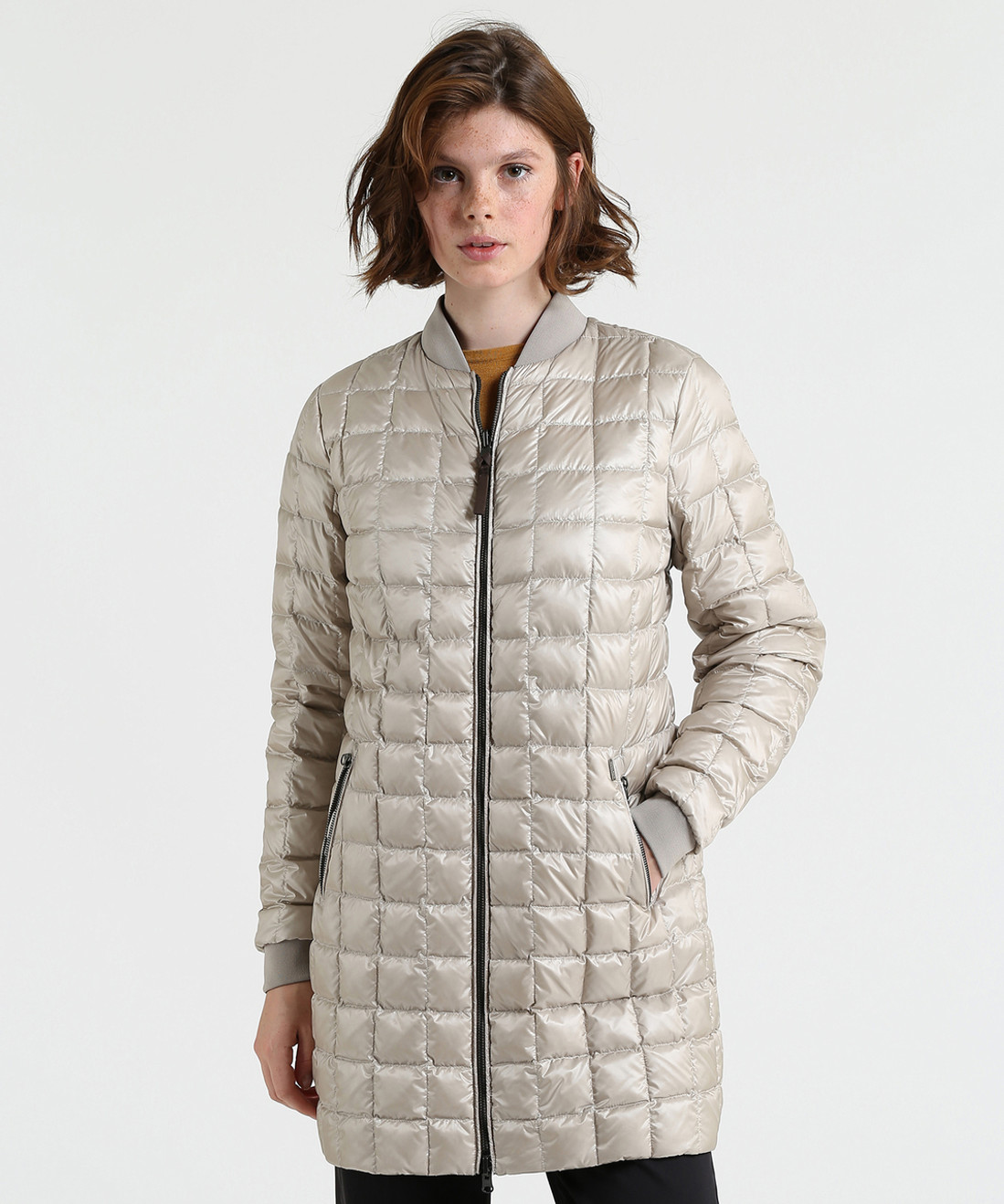 Women's Reversible Long Bomber Down Coat - John Rich & Bros.