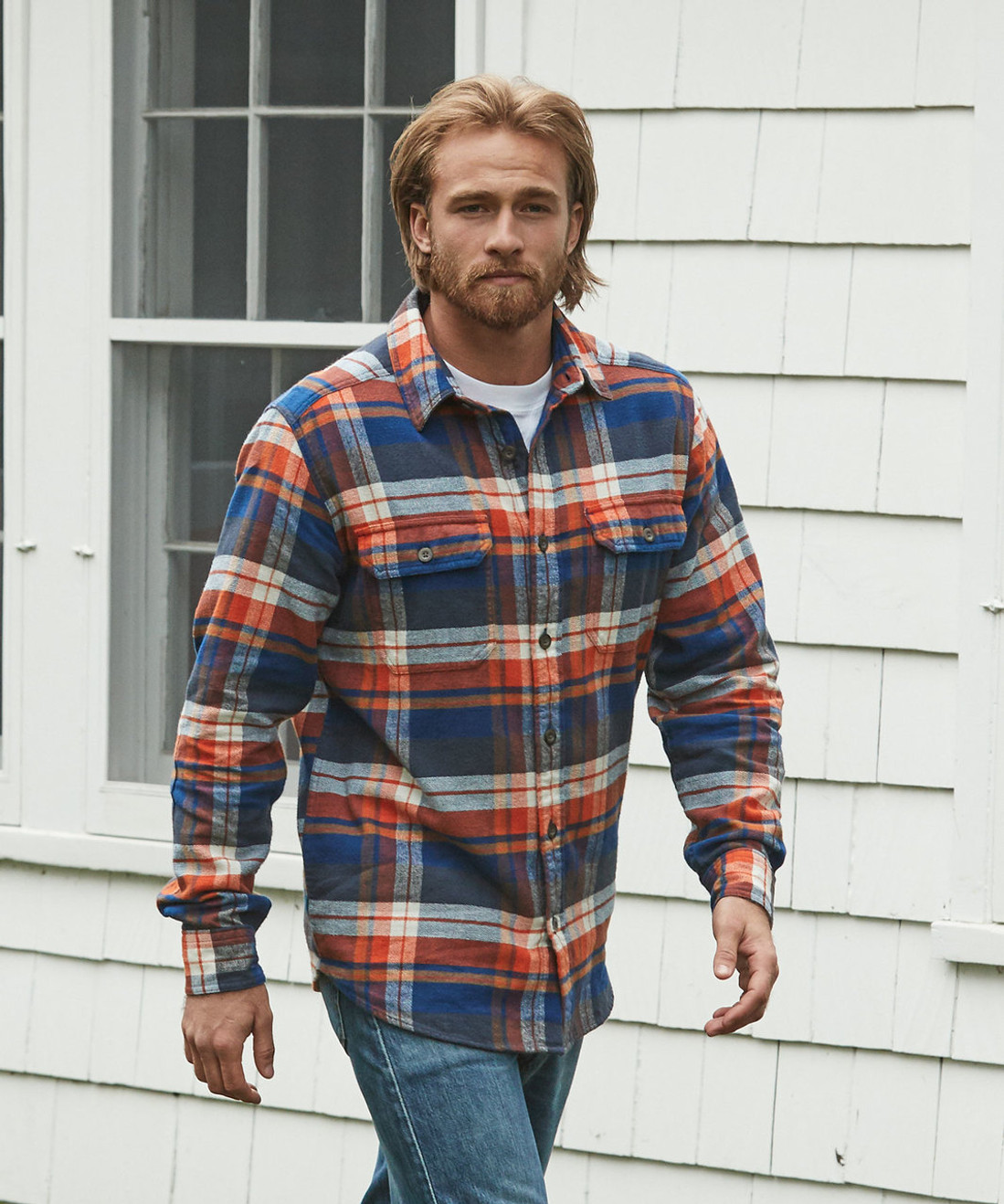 e19c6e9f71e1 Men s Oxbow Bend Plaid Flannel Shirt - 100% Cotton - Woolrich