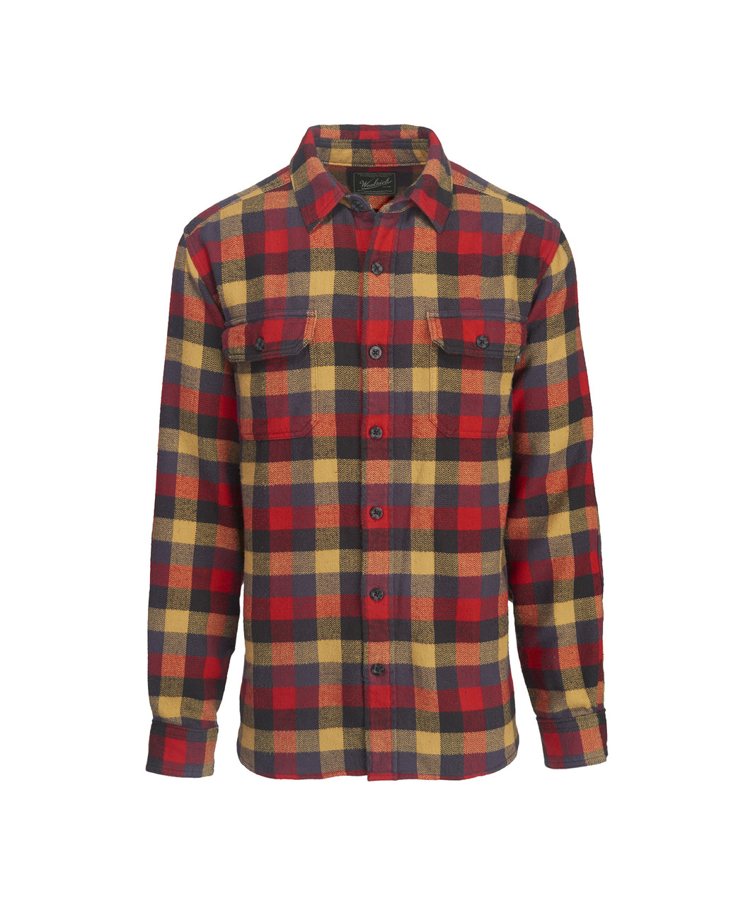 Mens Oxbow Bend Plaid Flannel Shirt 100 Cotton Woolrich
