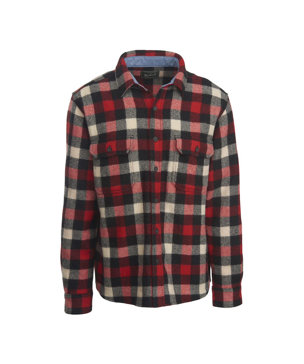 5b1650c9 Men's Buffalo Check Wool Shirt. 6135 model RED/WHITE/BLACK/PLAID