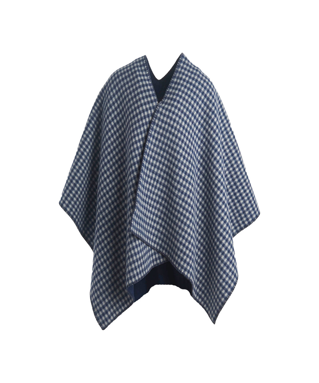 6c9ce5210 Double-Face 100% Wool Poncho. 92020 model NAVY