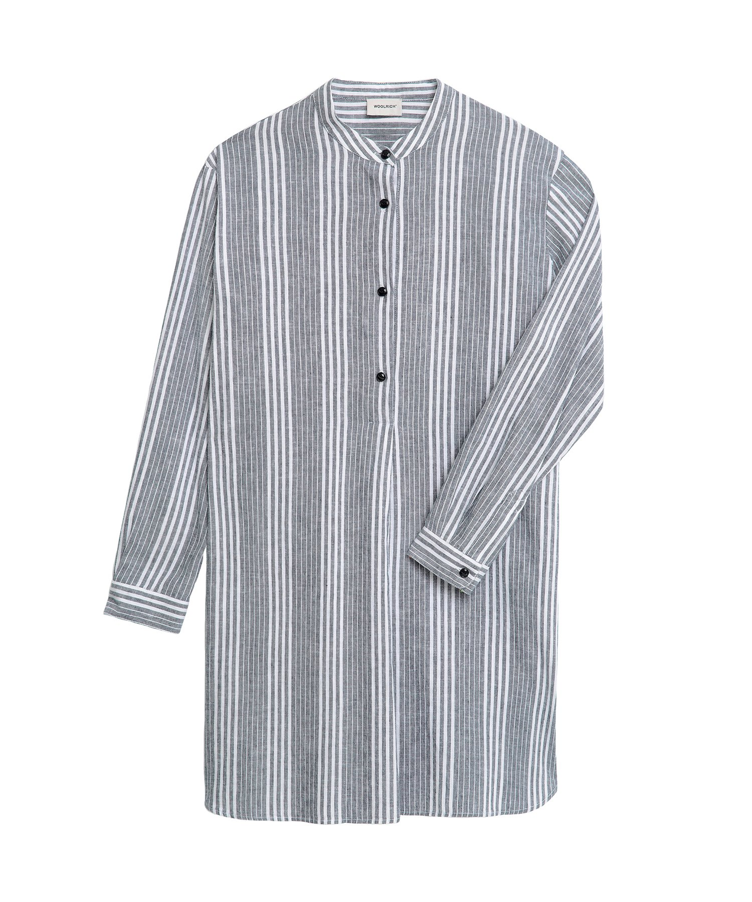 Woolrich COTTON LINEN LONG SHIRT