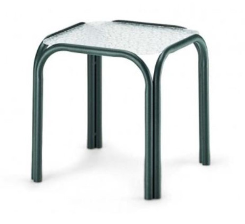 """Telescope Casual Obscure Acrylic Top 17"""" Square End Table"""