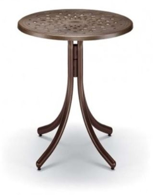 """Telescope Casual Cast Top 30"""" Round Bar Height Table with hole"""