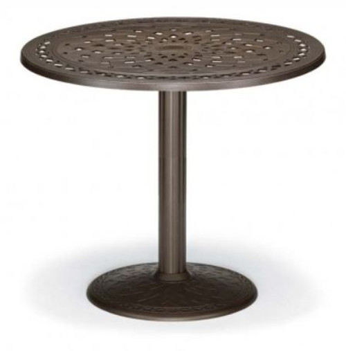 "Telescope Casual Cast Top 48"" Round Balcony Height Table with hole and 28"" diameter base"