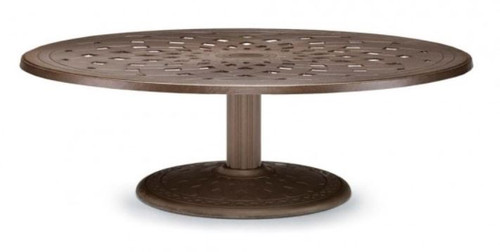 "Telescope Casual Cast Top 56"" Round Chat Height Table with hole and 28"" diameter base"