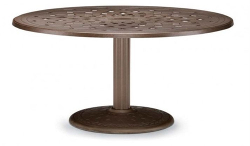 "Telescope Casual Cast Top 56"" Round Dining Height Table with hole and 28"" diameter base"
