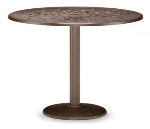"""Telescope Casual Cast Top 56"""" Round Balcony Height Table with hole and 28"""" diameter base"""