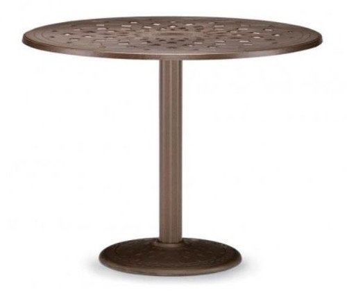 """Telescope Casual Cast Top 56"""" Round Bar Height Table with hole and 28"""" diameter base"""