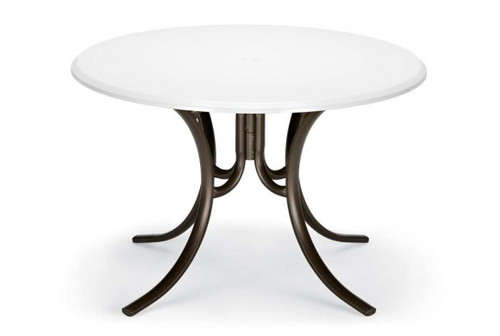 """Telescope Casual Werzalit 42"""" Round Dining Table with hole"""