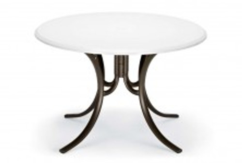 """Telescope Casual Werzalit 48"""" Round Dining Table with hole"""