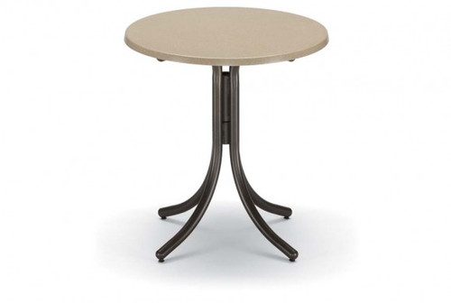 """Telescope Casual Werzalit 30"""" Round Balcony Height Table without hole"""