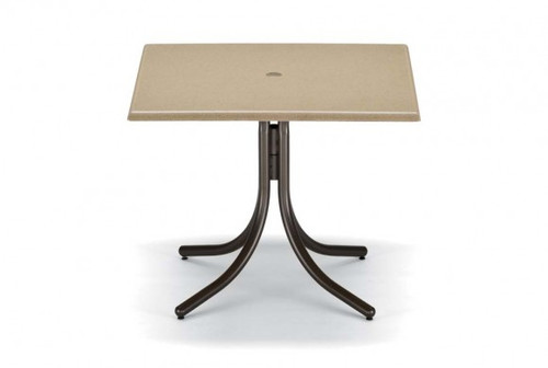 """Telescope Casual Werzalit 36"""" Square Dining Height Table with hole"""