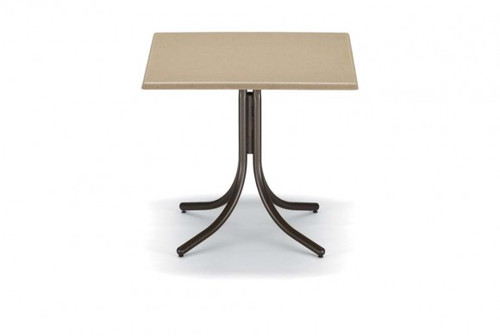 """Telescope Casual Werzalit 36"""" Square Balcony Height Table with hole"""