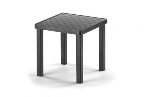 "Telescope Casual Aluminum Slat Top 18"" Square End Table"