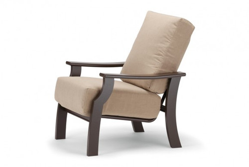 The deluxe St. Catherine MGP Cushion Arm Chair from Telescope Casual is notable for its deep-seat comfort and casual, contemporary style. With its nonporous Marine Grade Polymer frame and ultra-durable Sunbrella® cushions, this oversized club chair will undoubtedly be around season after season.