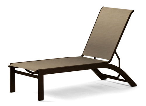Telescope Casual Kendall Sling Stacking Armless Lay-flat Chaise