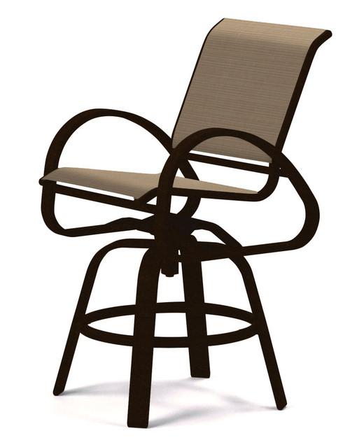 Telescope Casual Aruba Sling, Balcony Height Swivel Cafe Chair