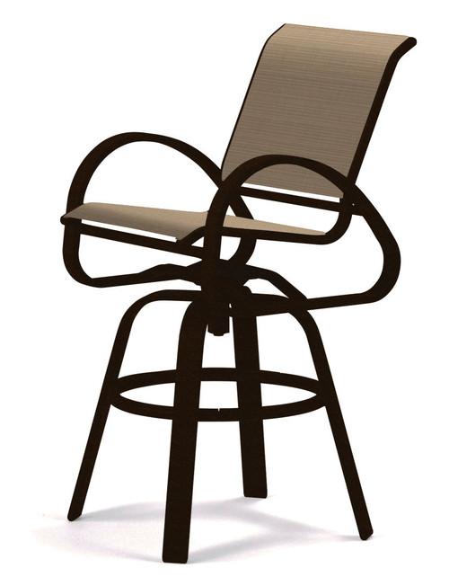 Telescope Casual Aruba Sling, Bar Height Swivel Cafe Chair