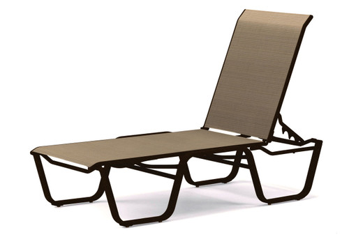 Telescope Casual Aruba Sling Four-Position Lay-flat Stacking Armless Chaise