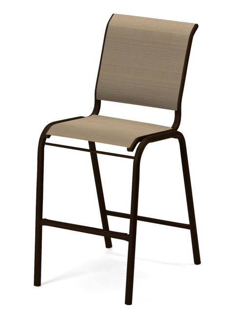 Telescope Casual Reliance Contract Sling Bar Height Stacking Armless Chair