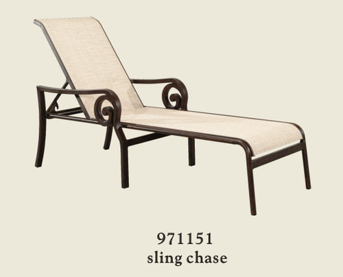 Patio Renaissance Naples Collection Sling Chaise
