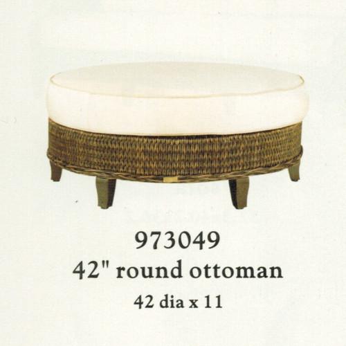"""Patio Renaissance Monticello Collection 42"""" Round Ottoman"""