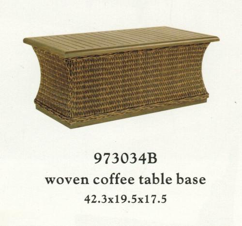 Patio Renaissance Monticello Collection Woven Coffee Table Base with Farnham Top