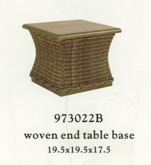 Patio Renaissance Monticello Collection Woven End Table Base Only  (top sold separately)