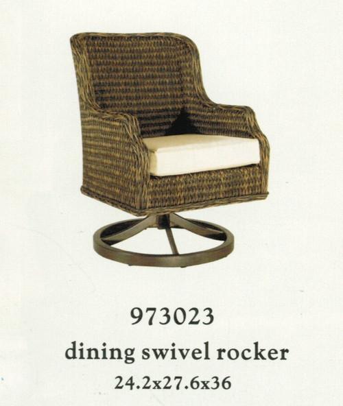 Patio Renaissance Monticello Collection Dining Swivel Rocker