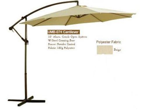 DWL Garden 10 ft Cantilever Umbrella