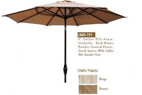 DWL Garden 9 ft Collar Tilt Umbrella