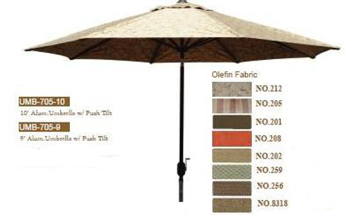DWL Garden 10 ft Umbrella with Push Tilt