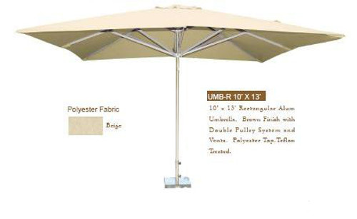 DWL Garden 10 ft x 13 ft Rectangular Umbrella