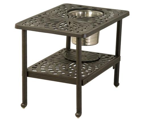 "Hanamint Tables, Mayfair 22""x32"" Rectangular Ice Bucket Table for Estate Sectional"
