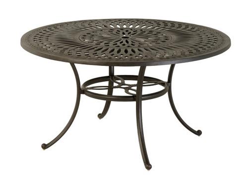 "Hanamint Table, Mayfair 54"" Round Inlaid Lazy Susan Table"