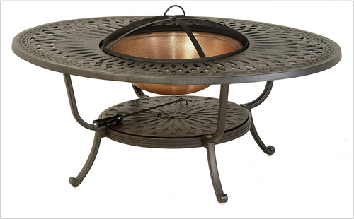 """Hanamint Fire Pit, Mayfair 39""""x52"""" Oval Fire Pit Table Only"""