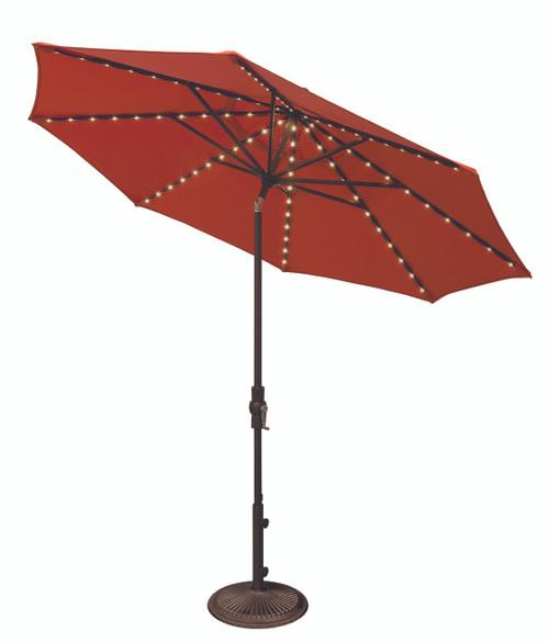 Treasure Garden Market Umbrellas, 9′ Starlight Collar Tilt