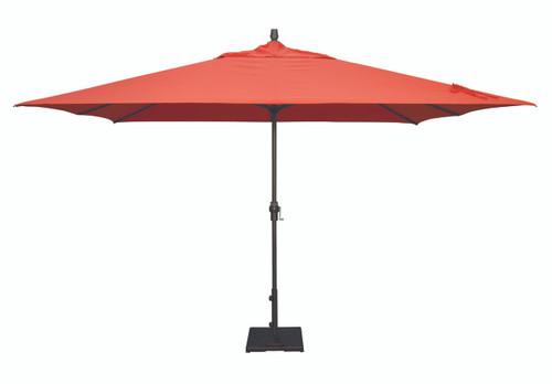 Treasure Garden Market Umbrellas, 8' x 11' Crank Lift Umbrella