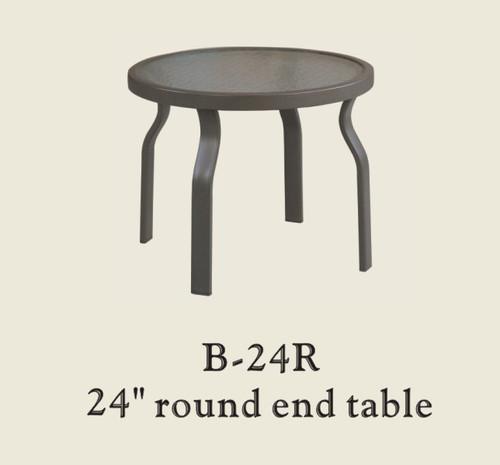 "Patio Renaissance Glass Table 24"" Round End Table"