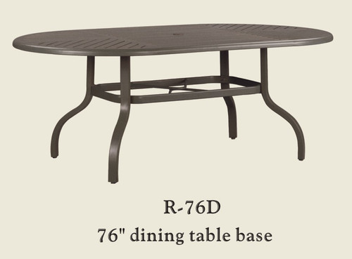"Patio Renaissance 76"" Dining Table Base Only"