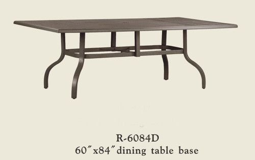 """Patio Renaissance 60"""" x 84"""" Dining Table Base Only"""