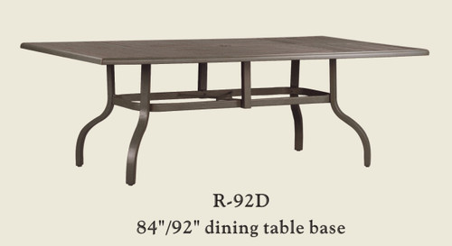 """Patio Renaissance 84""""/92"""" Dining Table Base Only"""