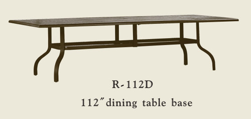 """Patio Renaissance 112"""" Dining Table Base Only"""
