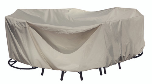 Treasure Garden Protective Furniture Covers X-Large Oval/Rectangle Table & Chairs -1
