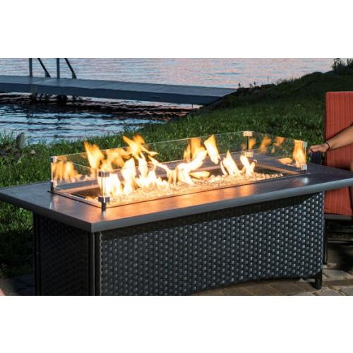 Outdoor GreatRoom - Black Montego Fire Pit Table