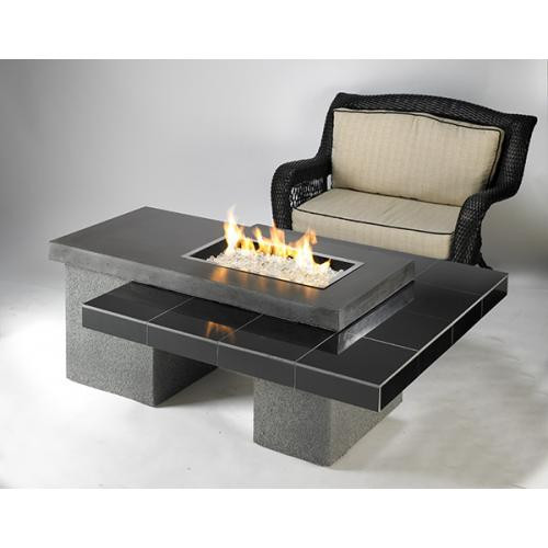 OutDoor GreatRoom - Black Uptown Fire Pit Table